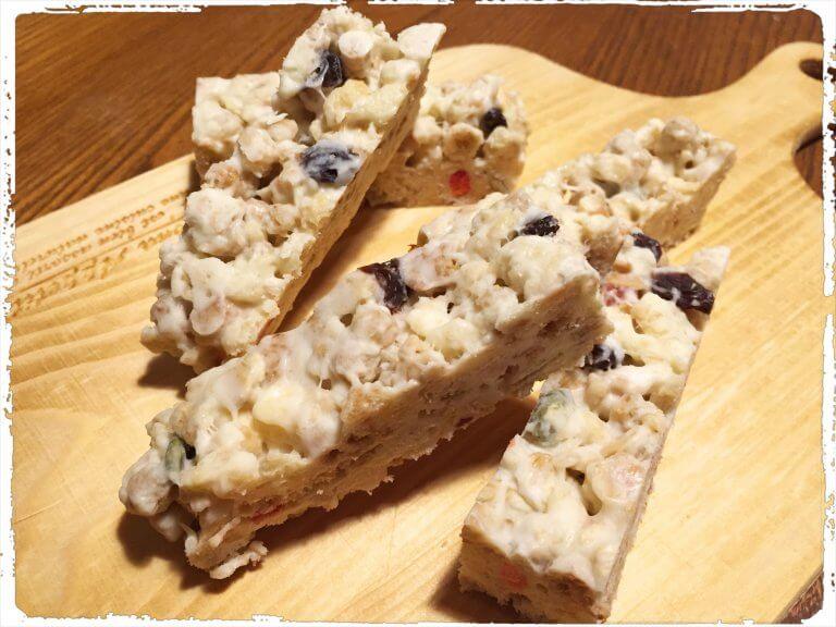 手作り ホワイトチョコのグラノラバー & サクサククッキー