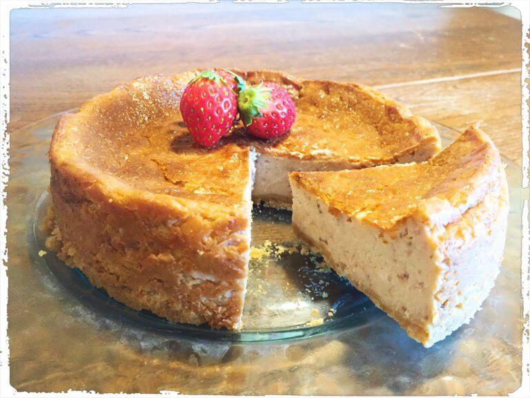 手作りストロベリーチーズケーキ&おうちごはん
